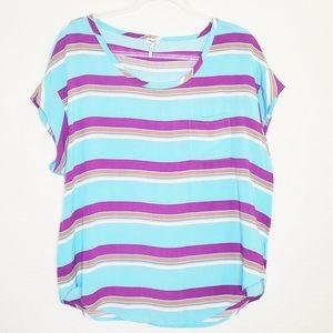 SPLENDID | Striped Short Sleeve Tee Top
